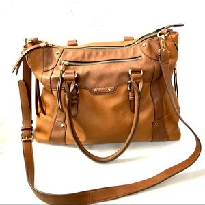 SOLE SOCIETY | Camel brown faux leather Susan tote